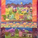 Village Whimsy art Quilt