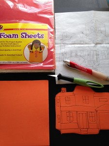 Foam sheets and drawing