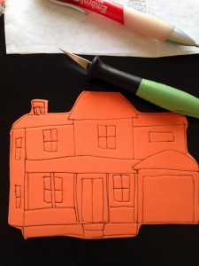 Close up of house stamp